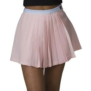 Tennis Skirt L Skorts Fila Sports Pleated Pink NWT
